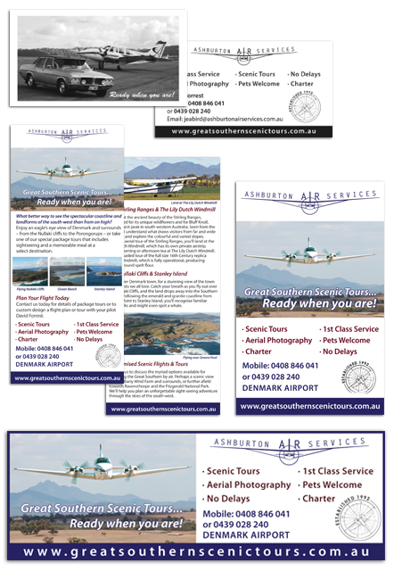 Ashburton Air Services Printed Material