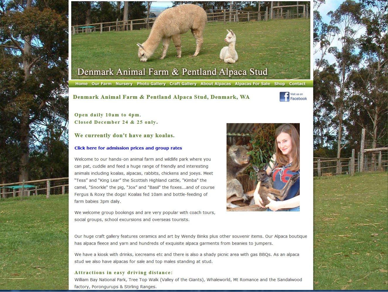 Denmark Animal Farm and Pentland Alpaca Stud, Denmark, WA