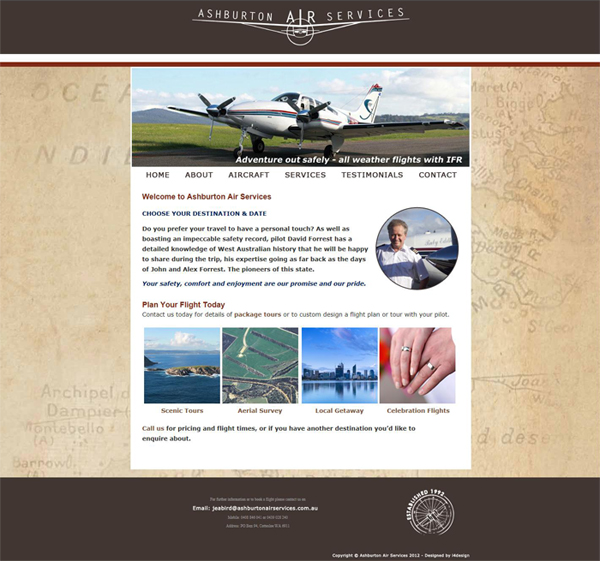 Ashburton Air Services Website