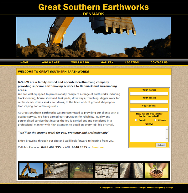 Great Southern Earthworks Website